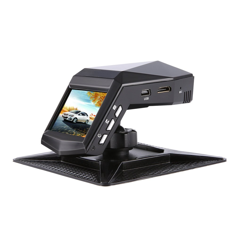 """Car Dashboard Camera Sony Sensor 1080P Full HD 140 Wide Angle Dash Cam 2"""" Display With 4 Infrared Lights, Parking Monitor, WDR, Motion Detection, G-sensor, Loop Recording. Single Recording"""