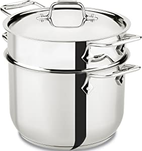 All-Clad E414S6 Stainless Steel Pasta Pot and Insert Cookware