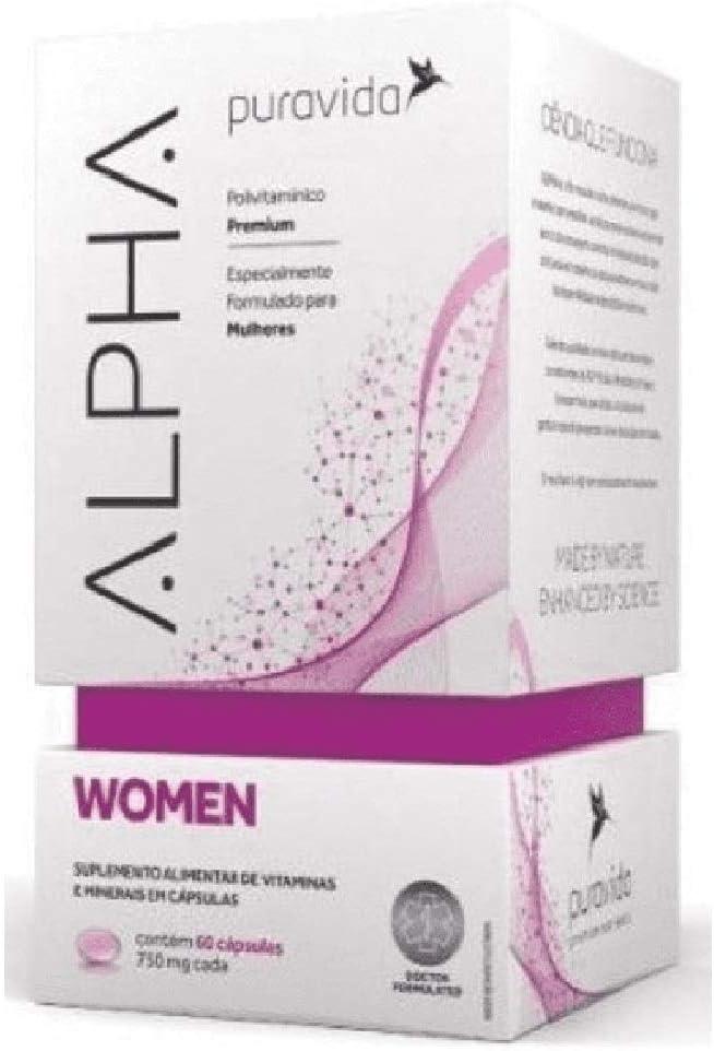 Alpha Women 750mg 60 cápsulas Puravida por PuraVida