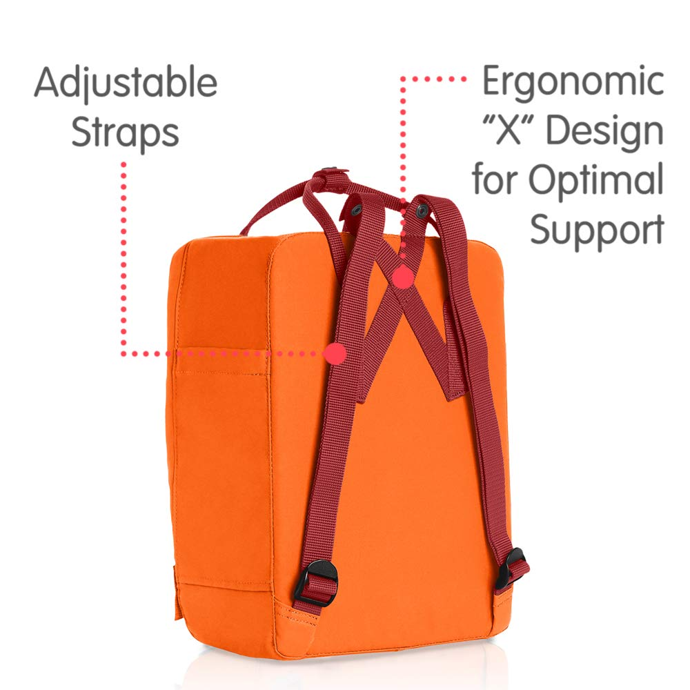 Fjallraven - Kanken Classic Backpack for Everyday, Burnt Orange/Deep Red by Fjallraven (Image #3)