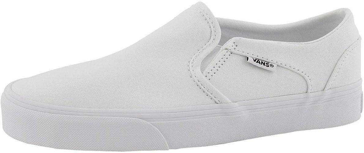 Vans Asher Zapatillas de Deporte para Mujer, Color Blanco
