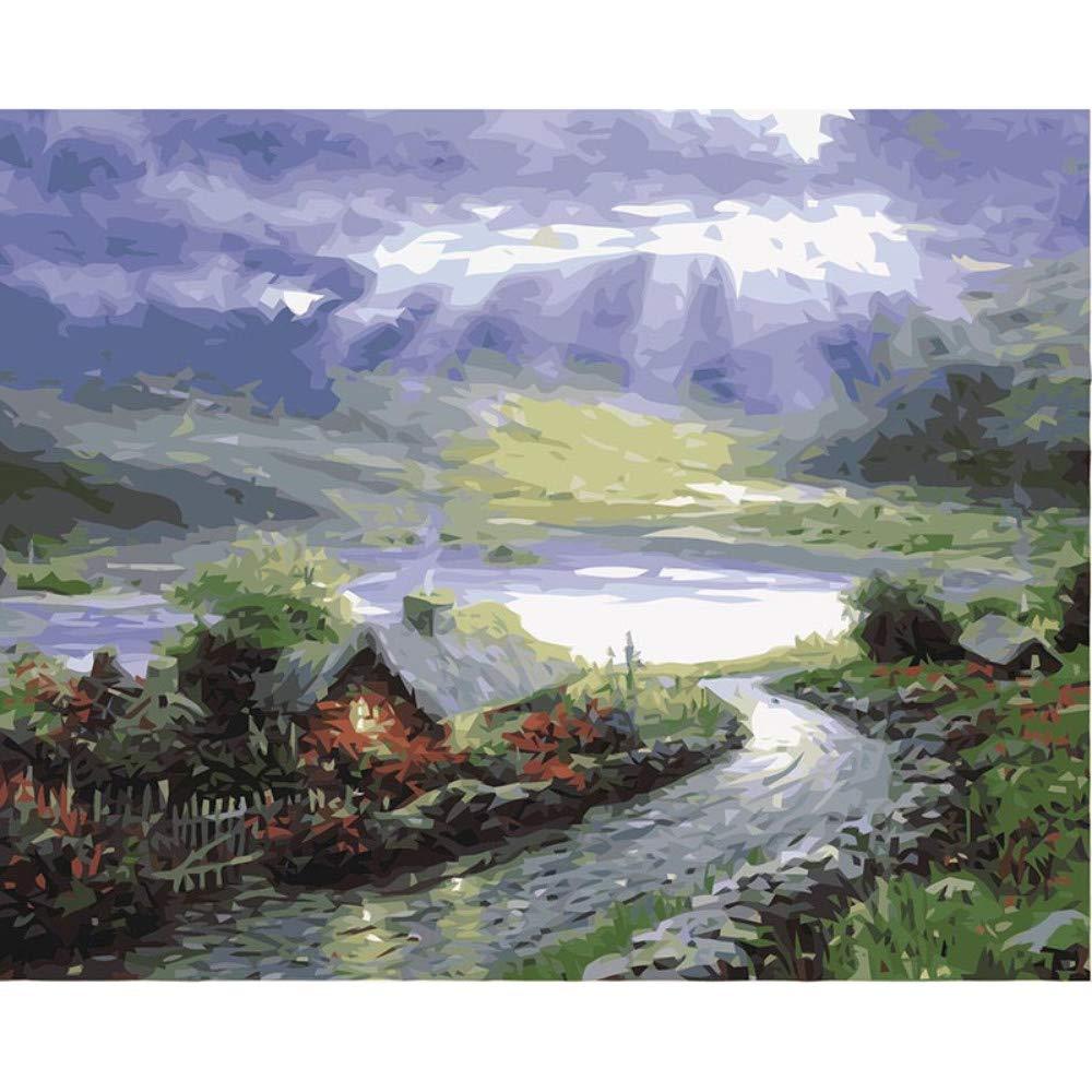 Fotos de Pintura por números de Trabajo Hecho a Mano Lienzo Pintura al óleo decoración del hogar para Sala de Estar