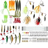 Cheap Fishing Lures Set Bass Baits Fishing Tackle – Including Top Water Lures Spoons Spinners Plugs Worms Jigs Tackle Box and More Fishing Gear Accessories – for Saltwater Freshwater