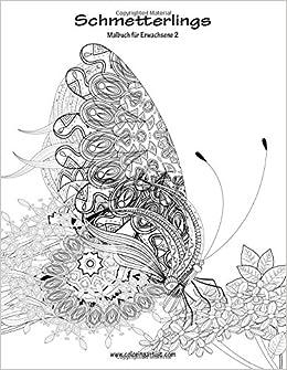 Schmetterlingsmalbuch für Erwachsene 2: Volume 2