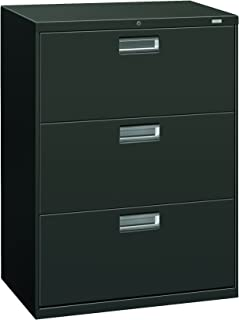 product image for HON 673LS 600 Series 30-Inch by 19-1/4-Inch 3-Drawer Lateral File, Charcoal