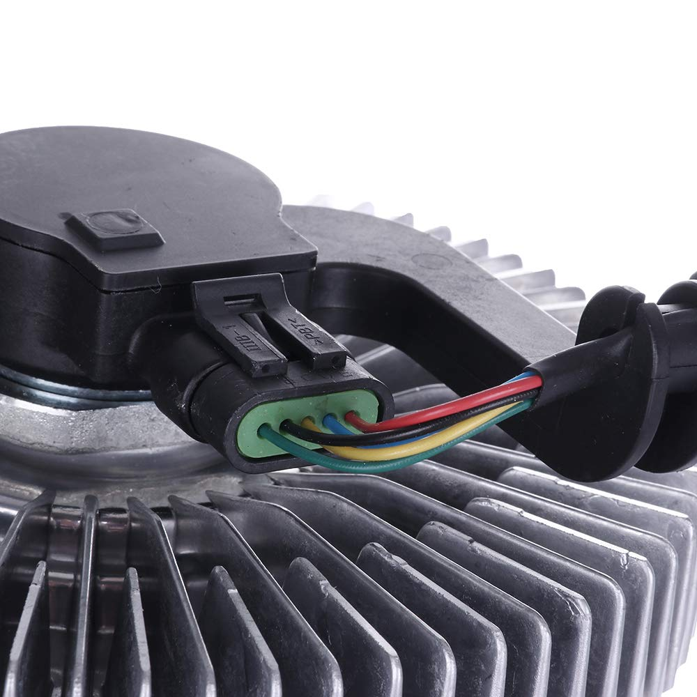 SCITOO Fan Clutch Electric Cooling Fan Parts Compatible with 2004-2007 Buick Rainier Chevrolet 2002-2009 Trailblazer 2002-2006 GMC Envoy XL//XUV