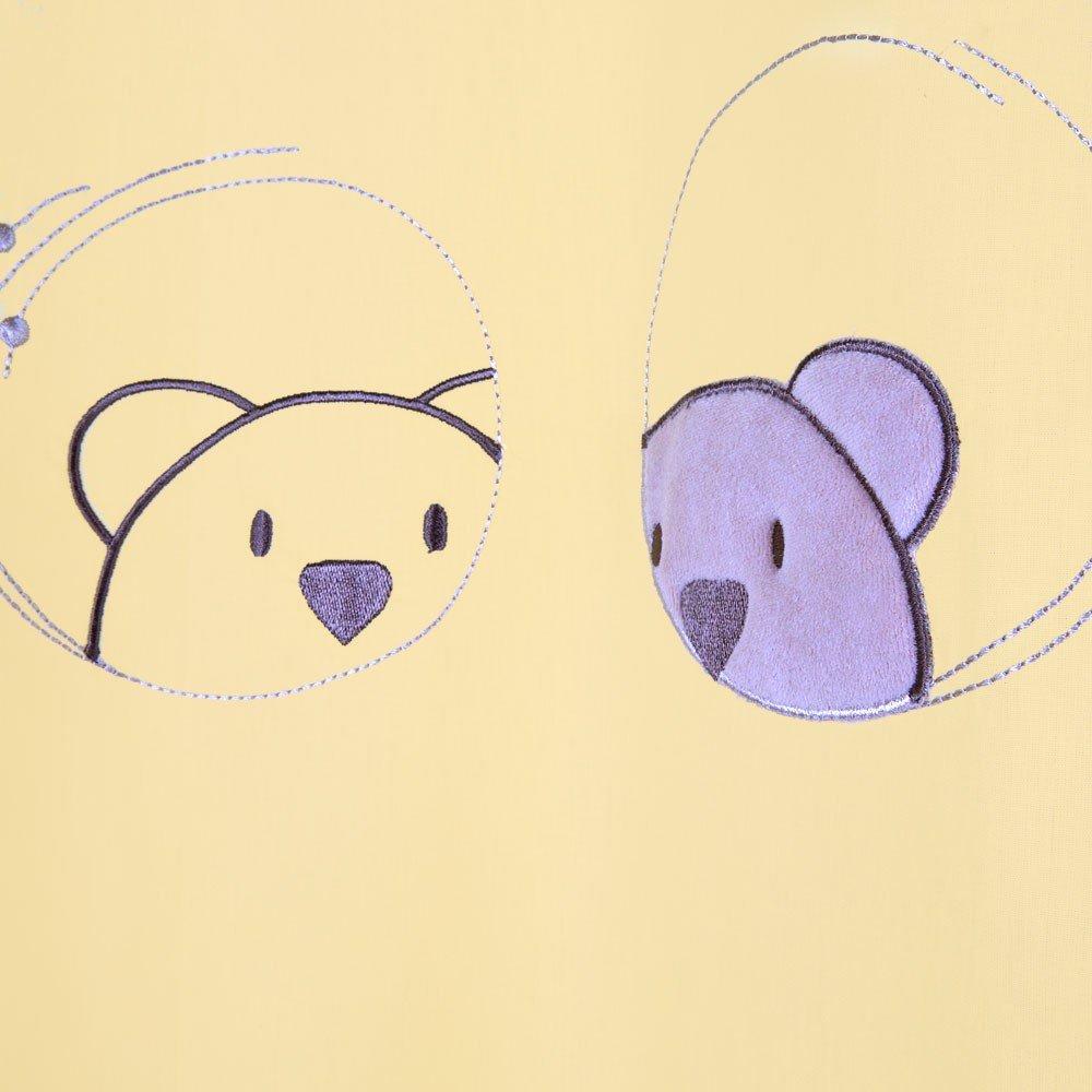 ca Kinderzimmer Gardinen//Vorh/änge Little Bear in Gelb 140 x 230 cm