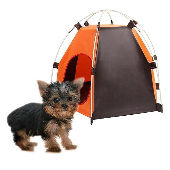 Tienda Plegable Portátil Para Perros Casa de Gato Casa con Cama, Animales Impermeables al Aire Libre Refugio Wigwam, Viajes Camping Jaula Para Mascotas en ...