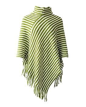 Poncho Elegante Jersey Chal Suéter Capa Verde Punto Mujer Laozana wx6aZZ