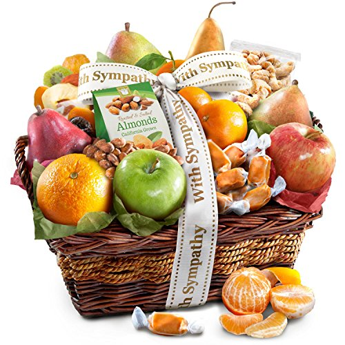 With Sympathy Orchard Delight Fruit and Gourmet Gift Basket