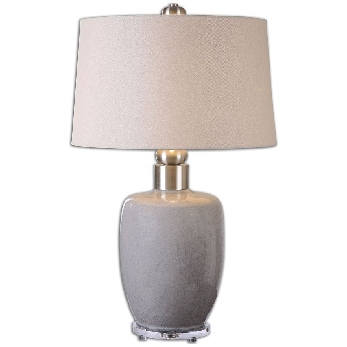 Uttermost 26147 Ovidius Glaze Lamp, Gray by Uttermost B00MK7V3U2