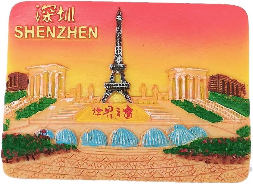 3D Window of The World Shenzhen China Fridge Magnet, Home & Kitchen Decoration Magnetic Sticker,Shenzhen China Refrigerator Magnet Tourist Souvenir Gift