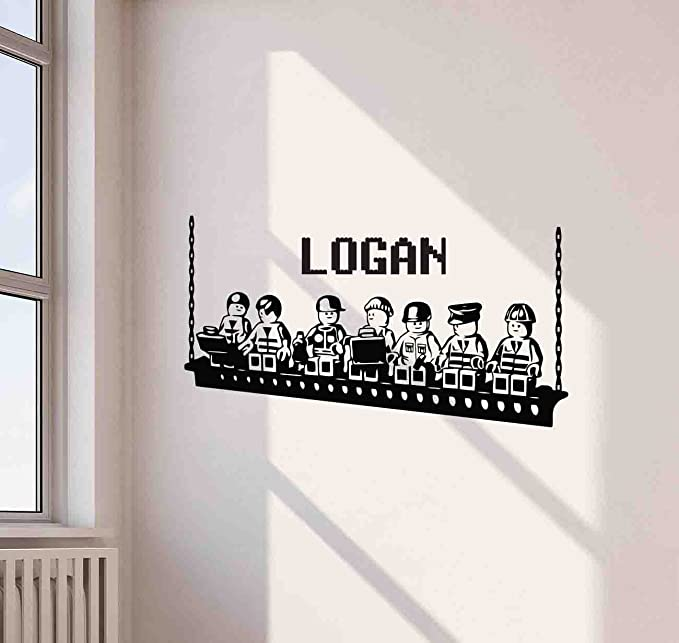 Personalised Any Name Lego Wall Decal 3D Art Stickers Vinyl Room Bedroom Gift 7