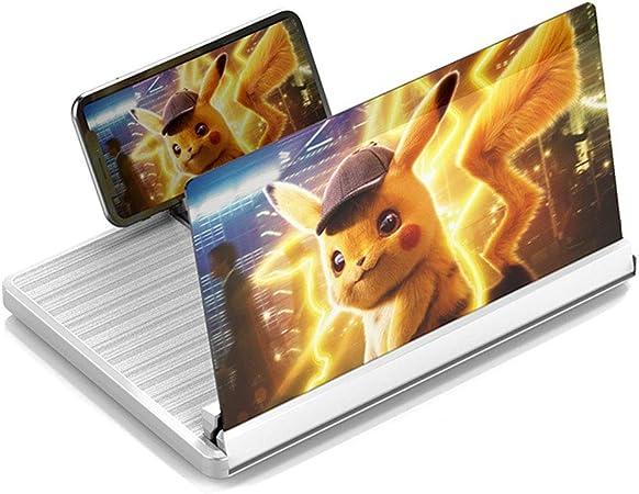AGMDJ Lupa de Pantalla Teléfono Inteligente Lupa Teléfono Celular HD Película Video Anti-BLU-Ray Amplificador de TV con Soporte Plegable,White: Amazon.es: Hogar