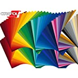 """5 12"""" x 12"""" Sheet Glossy/Matte Oracal 651 Permanent Adhesive-Backed Vinyl for Craft Cutters, Punches and Vinyl Sign Cutters (Black)"""