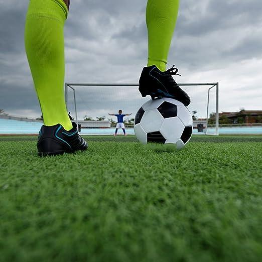 Calcetines de Fútbol para Niños Calcetas de Compresión Deportivas para chicos Medias Largas de Soccer de Algodón Elástico Transpirable Acolchadas - Paquete ...
