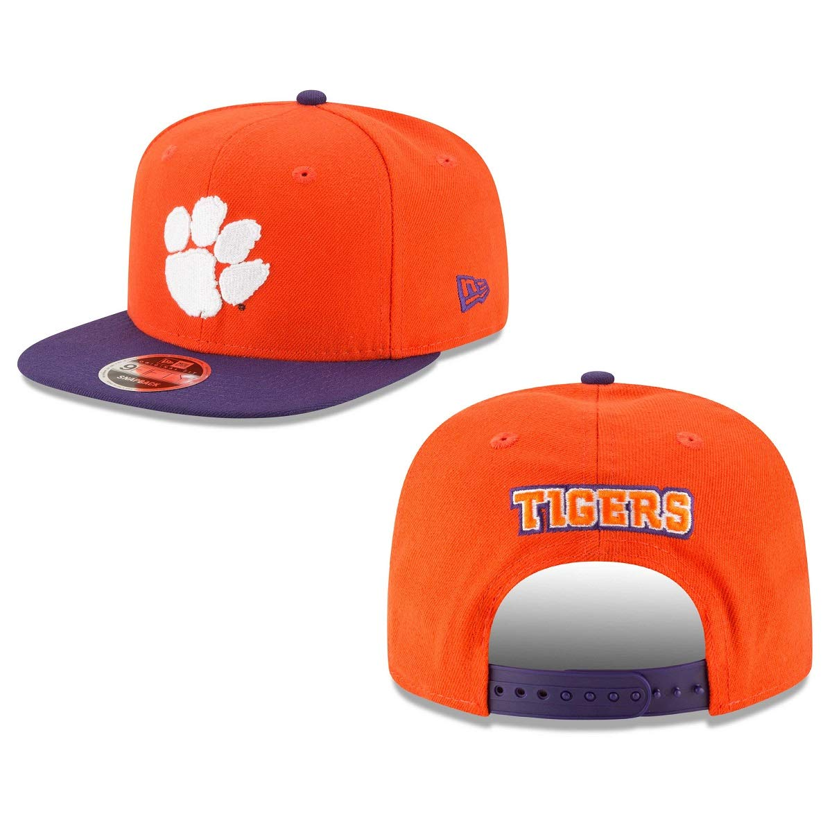New Era Clemson Tigers Basic 9FIFTY Adjustable Hat