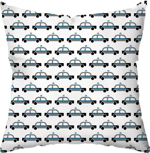 18 by 18-Inch Checkerboard Throw Pillow Beep Beep