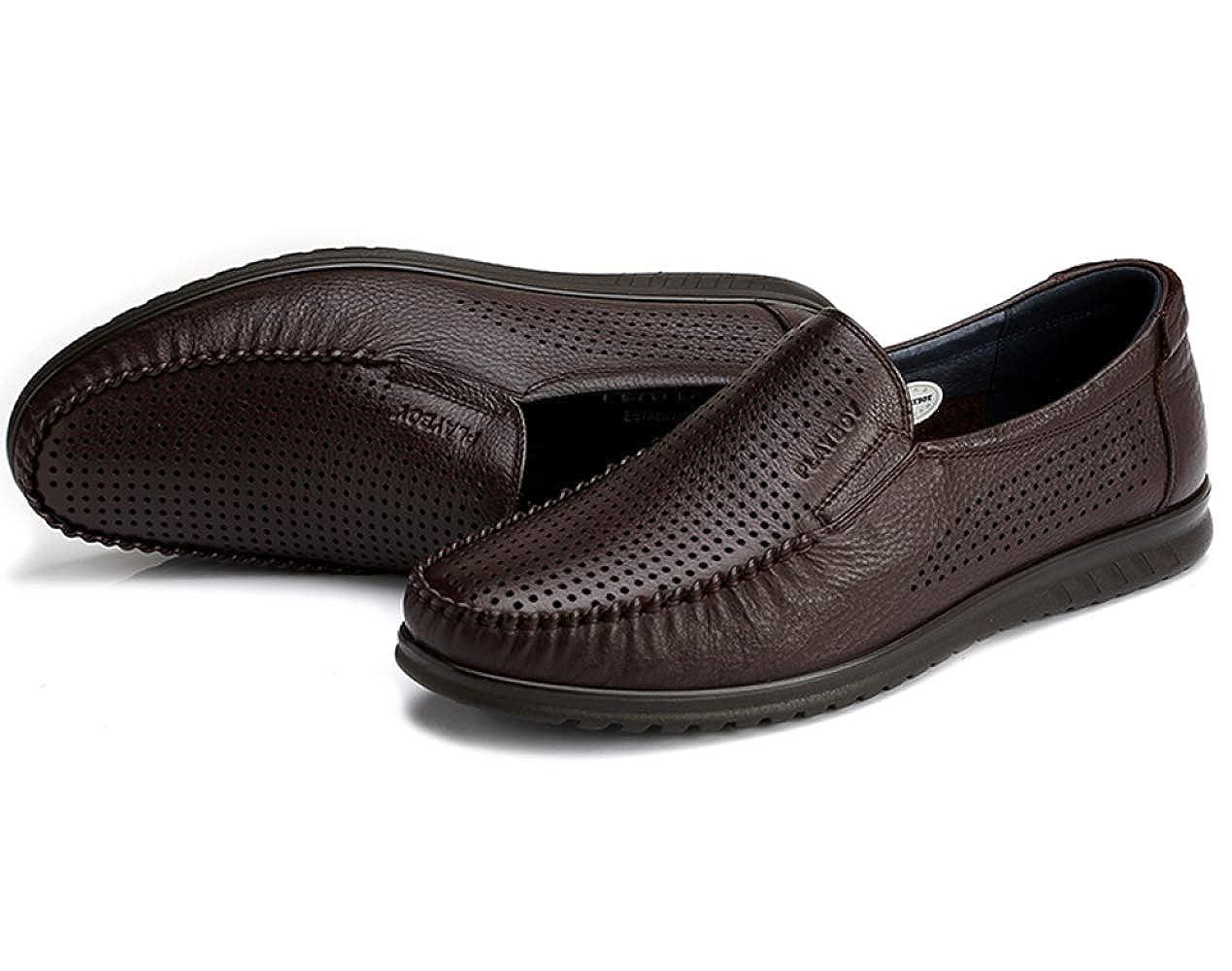 Business-Freizeitschuhe Der Männer Lok Papa Fu Schuhe Kleid Schuhe Papa Lok Schuhe Bequem Braun a34b83
