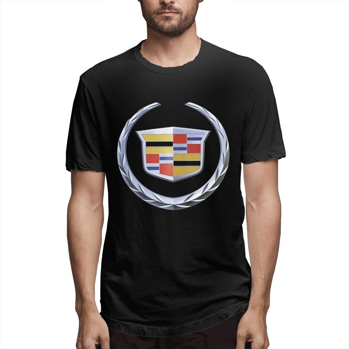 Kinggo Man Printed Breathable Cadillac Logo Short Sleeve Funny T-shirt Black