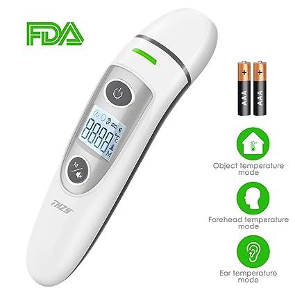 Termómetro Digital Frente y Oído, sin contacto termómetro Digital infrarrojo Termómetros Médicos de Precisión para