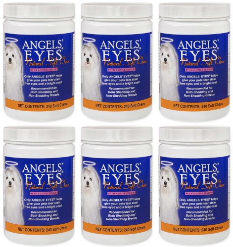 Angels' Eyes Natural Soft Chew Chicken Flavor 1440ct Dog (6 x 240ct) by Angel's Eyes