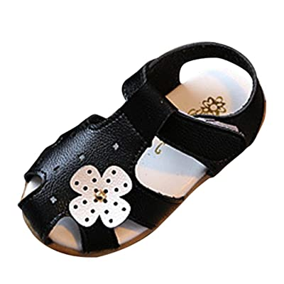 KONFA Toddler Baby Girls Hollow Out Floral Sandals,for 1-3.5 Years old,Summer Little Princess Casual Shoes: Clothing