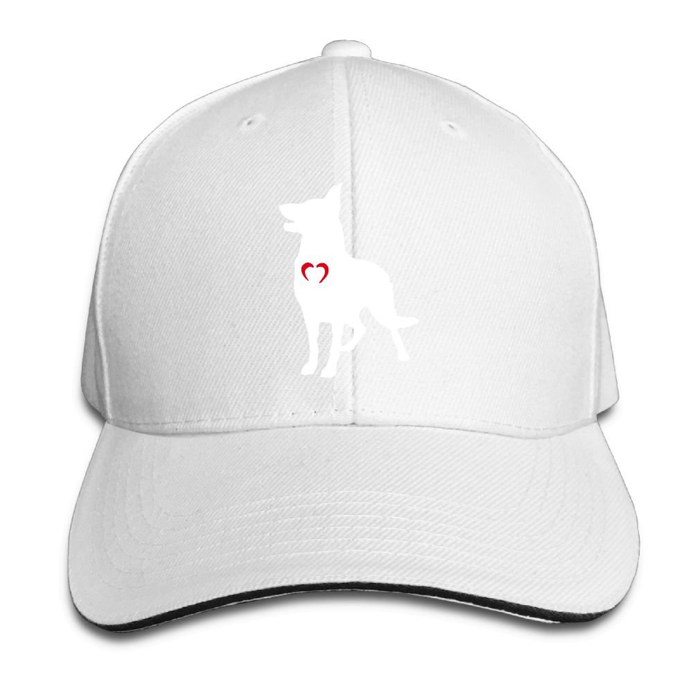 JustQbob1 German Shepherd with Heart-1 Outdoor Snapback Sandwich Cap Adjustable Baseball Hat Dad Hat