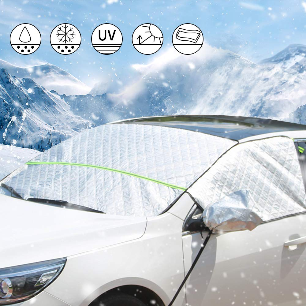 Automotive Aokebeey Car Windscreen Frost Cover Snow Cover Windshield Ice Cover Sunshade Protector in all Weather,1.5x2.45m Car & Motorbike Care