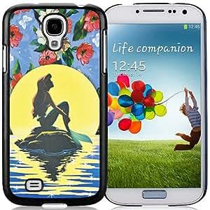 The Little Mermaid Black Abstract Design Custom Samsung Galaxy S4 I9500 Case