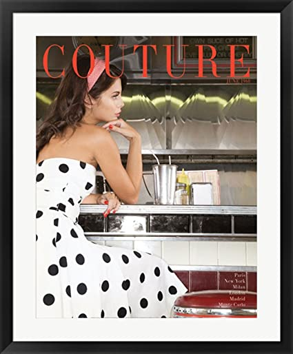 Amazon.com: Couture June 1960 Framed Art Print Wall Picture, Black ...