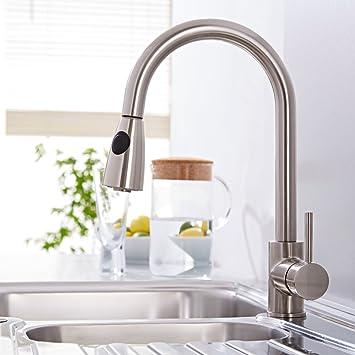 hudson reed kc317 - rubinetto miscelatore per lavello cucina con ... - Rubinetti Per Lavello Cucina