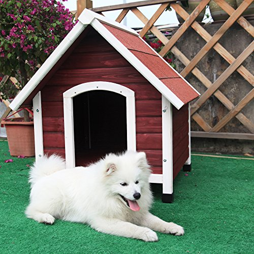 Petsfit 37.8 X 44.1 X 41.3 Inches Wood Dog House , Dog House