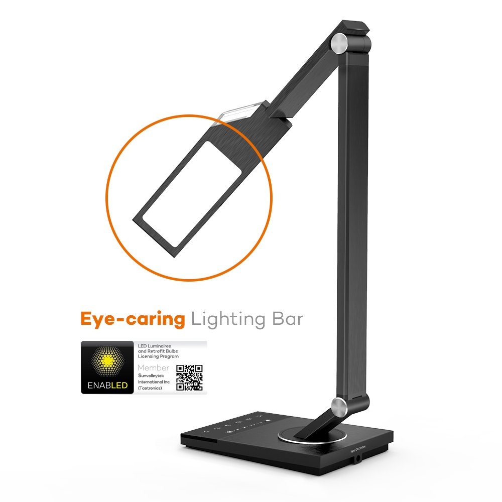 LED Desk Lamp, TaoTronics Stylish Metal Table Lamps, Office Light ...