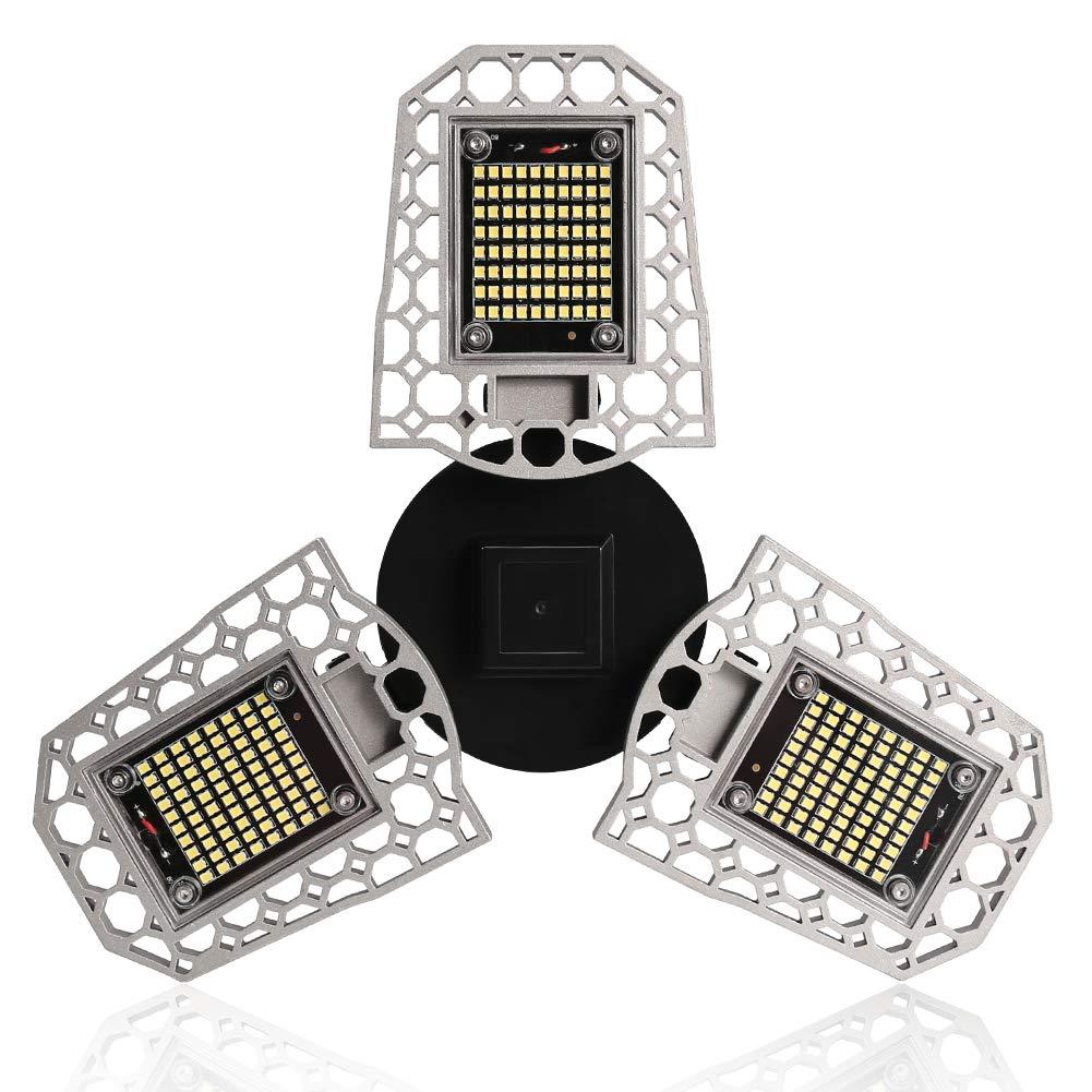 E27 LED Garage Shop Work Lights Foldable Light 80W 7200LM Home Ceiling Fixture
