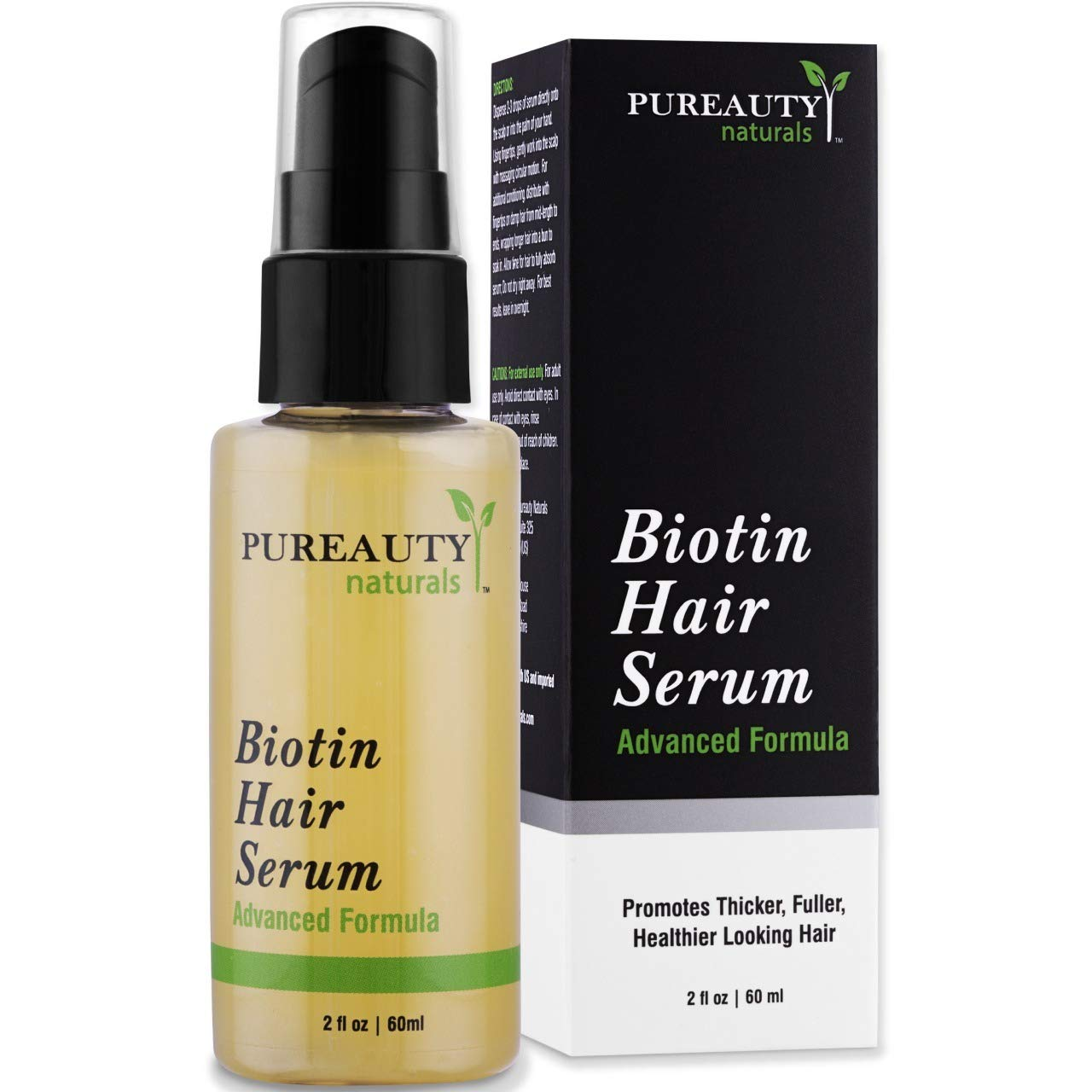 Amazon Com Biotin Hair Growth Serum Advanced Topical Formula To Help Grow Healthy Strong Hair Suitable For Men And Women Of All Hair Types Hair Loss Support By Pureauty Naturals Beauty