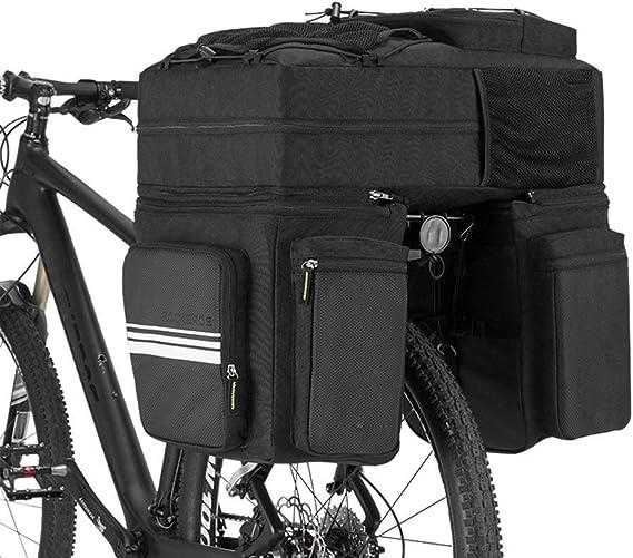 ZHLZH Alforjas Bicicleta Montaña/3 En 1 Bolsas De Estante Trasero ...
