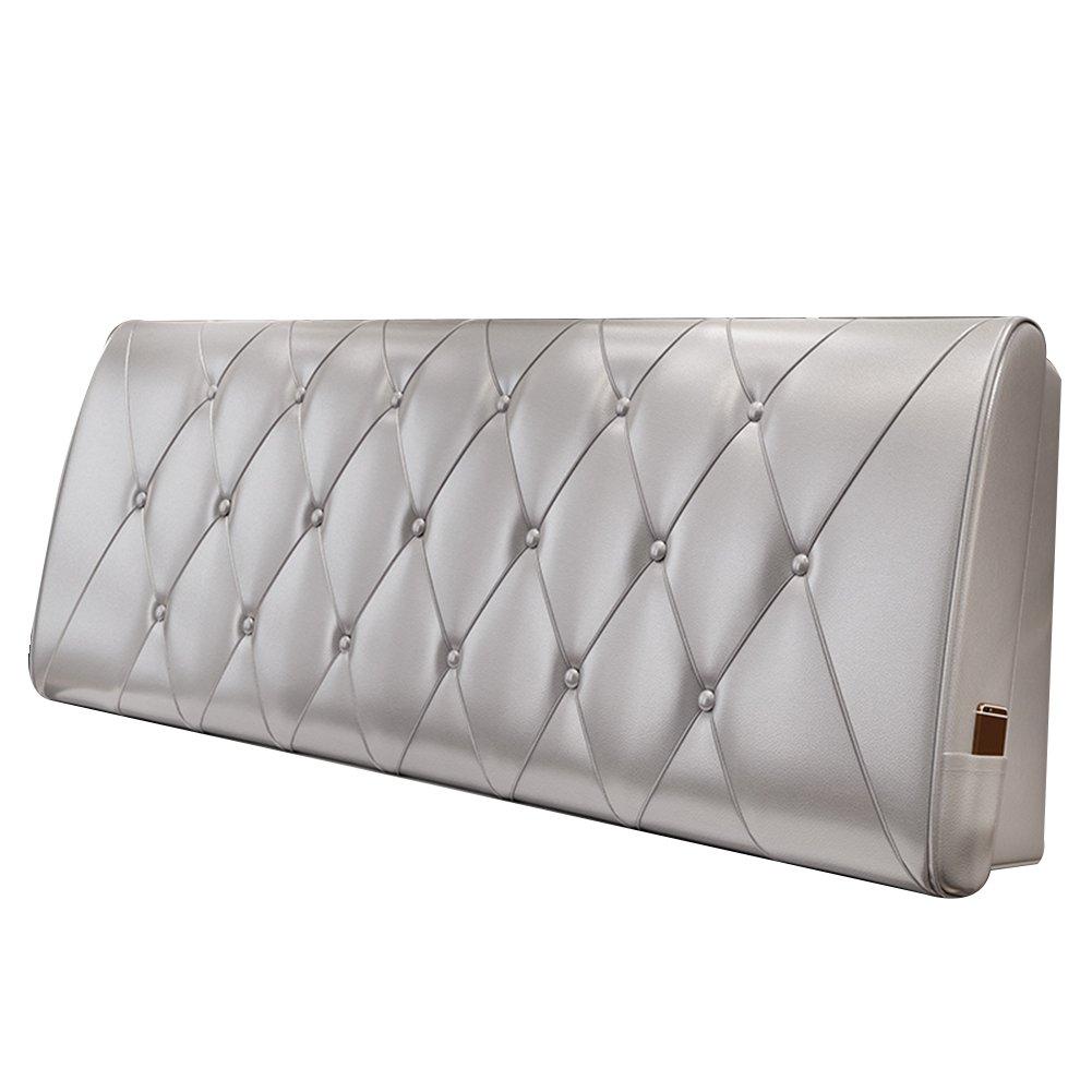 HAIPENG クッション ベッドの背もたれ ベッド バックレスト カバー ヘッドボード ベッドサイド クッション 布張り 枕 腰椎 パッド ソファー レザー リムーバブル、 10色、 マルチサイズ (色 : Light silver grey, サイズ さいず : 200x10x60cm) B07DNY9Z71 200x10x60cm|Light silver grey Light silver grey 200x10x60cm