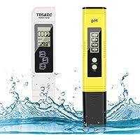 pH-meter, digitaal pH TDS EC en temperatuur meetinstrument 4-in-1 set, waterkwaliteit tester (ATC) hoge nauwkeurigheid…