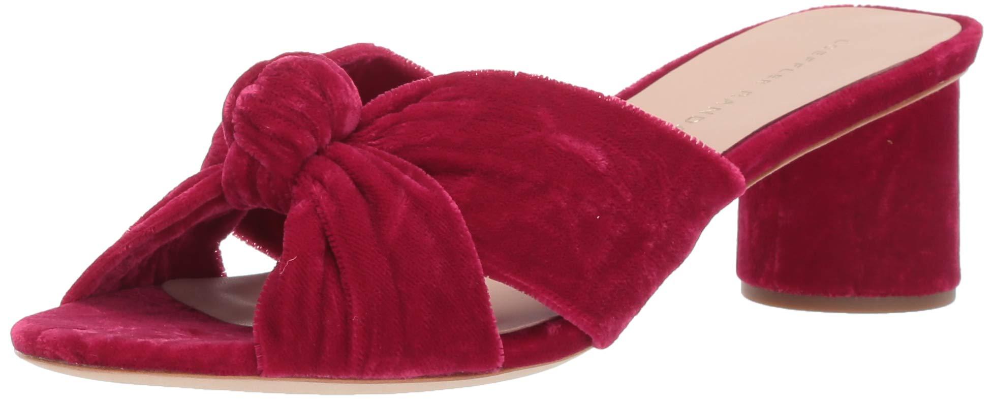Loeffler Randall Women's Celeste-CVL Slide Sandal Hibiscus 9 Medium US
