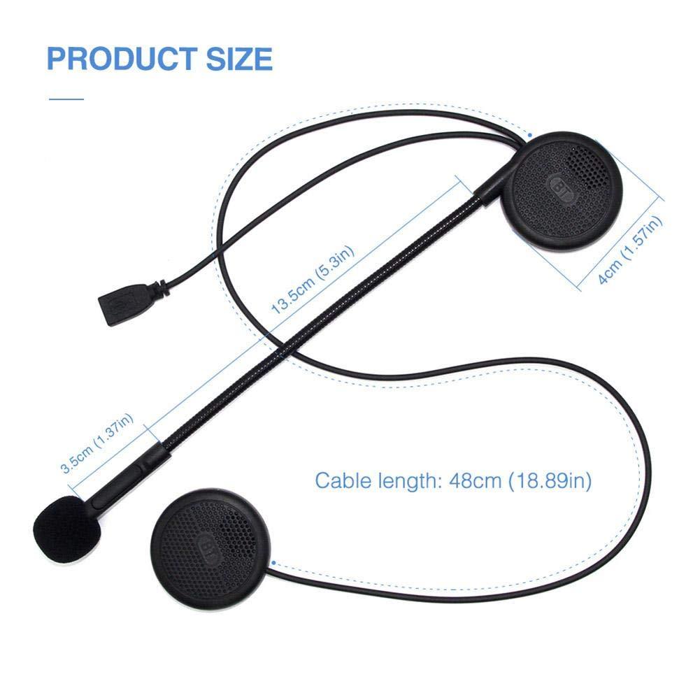 waspde L1m ultrad/ünne motorradhelm drahtlose bluetooth headset kopfh/örer helm lautsprecher drahtlose bluetooth headset mini mit schwamm mikrofon sturdy
