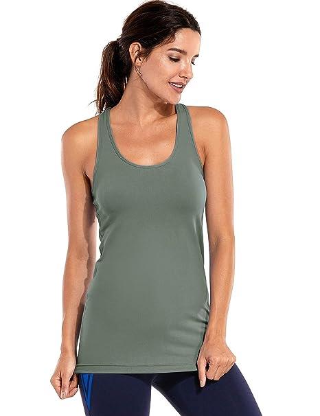 CRZ YOGA Mujer Camiseta Tirantes Deporte de Sueltas Formación Camiseta sin  Mangas  Amazon.es  Ropa y accesorios 05b8467d78d7