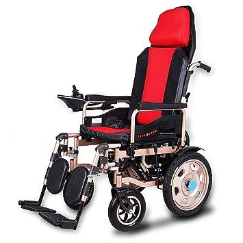 Silla De Ruedas Eléctrica Anciano Discapacitado Coche Anciano Portátil Inteligente Scooter Multifuncional Plegable,Red: Amazon.es: Salud y cuidado personal