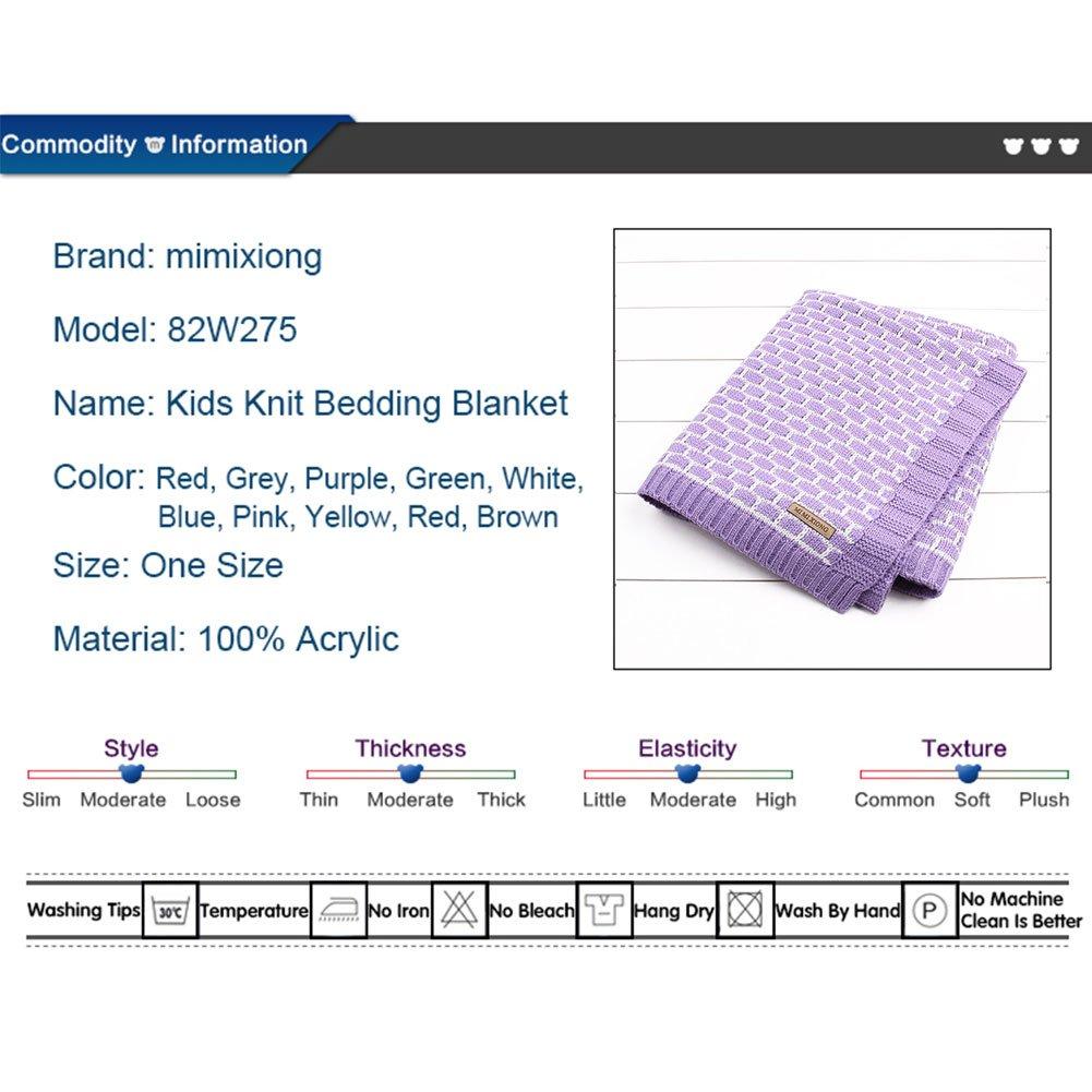 MMX Otoño Invierno Cálido mantas de bebé para tejer patrones blanco Plaid ganchillo niños, niñas, Swaddle Wrap recién nacidos colcha tirar toalla de baño ...