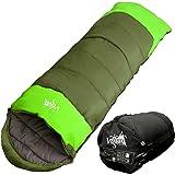 丸洗いのできる寝袋 封筒型 最低使用温度 -15℃ コンパクト収納袋付き シュラフ 寝袋 オールシーズン