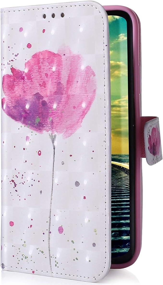 Uposao Compatible con Huawei P Smart Plus 2019 Funda Carcasa Piel Cartera Libro Dibujo 3D Pintado Modelo PU Leather Wallet Flip Cover Case Compatible con Huawei P Smart Plus 2019,Rosa: Amazon.es: Oficina