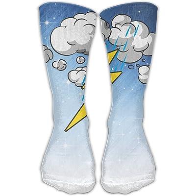 Thunder Lightning Unisex Sports Socks Tube Socks Knee High Compression Sports Athletic Socks Tube Stockings Long Socks