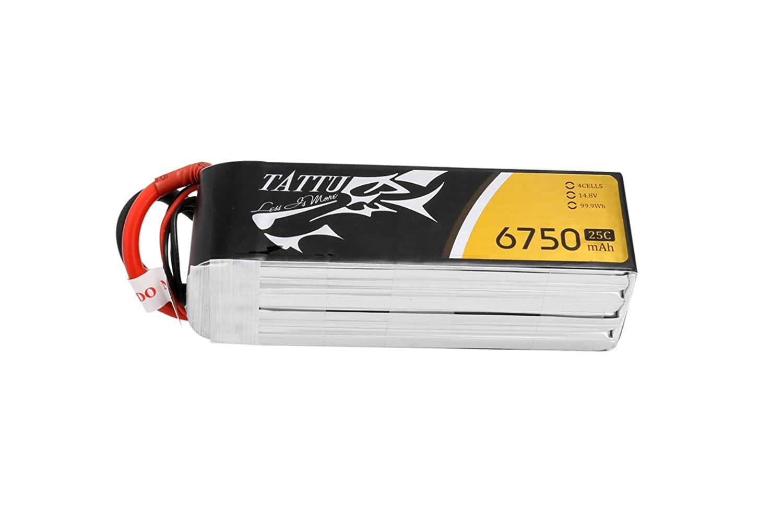 Tattu 6750mAh 14.8V 25C 4SリポバッテリーパックRCバッテリー(XT90プラグ付き)RCマルチコプターUAVドローン航空機フライトエリートおよびUAV用サイズ550 B00T7DXLX4