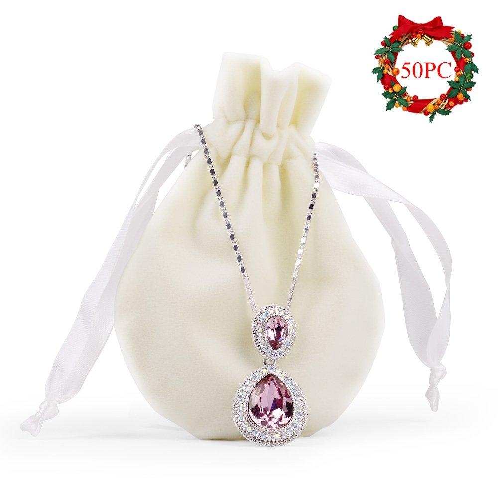 b54973a36897 Amazon.com: Oirlv Velvet Drawstring Favor Bags Jewelry Pouches ...