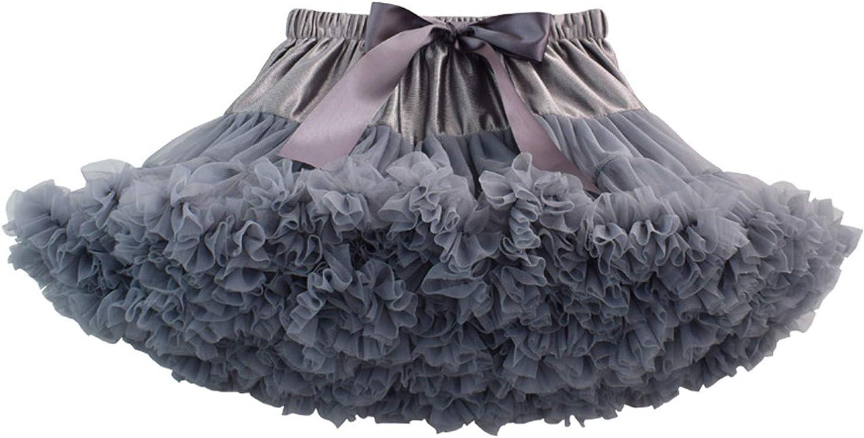 Happy Cherry - Falda de Tutú para Bebés de Princesa Vestido de Tul de Capas de Volantes con Cinta de Bowknot